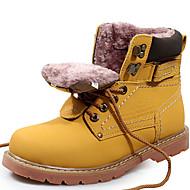 baratos Sapatos Femininos-Unisexo Sapatos Pele Outono / Inverno Botas Cowboy / Country / Botas de Neve / Botas da Moda Botas Amarelo / Castanho Claro
