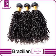 3 bundels Braziliaans haar Klassiek / Kinky Curly Onbehandeld haar Menselijk haar weeft Menselijk haar weeft Extensions van echt haar / Kinky krullen