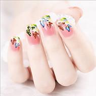 přenosu voda tisk barevný motýl na nehty samolepky