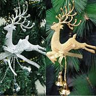 クリスマスつまらないパーティーの装飾をぶら下げホームクリスマスツリーの飾りの鹿アクシスジカ