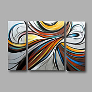Ready to Hang Hand-Painted Oil Painting on Canvas Wall Art Modern Grey Blue Home Deco Abstract Three Panels