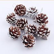 9 pcs de pinho natural decoração de decoração de decoração de árvores de Natal
