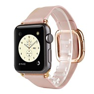 billiga Smart klocka Tillbehör-Klockarmband för Apple Watch Series 4/3/2/1 Apple Modernt spänne Äkta Läder Handledsrem