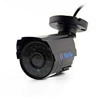 yanse® 1100tvl 2.8mm metall aluminium d / n CCTV kamera ir 24 ledet sikkerhet vanntett kablet 6624cq