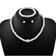 Dámské Sady šperků Peckové náušnice İnci Kolyeler Strand Náramky Perly Circle Shape Festival/Svátek Pro nevěstu Elegantní Svatební Párty