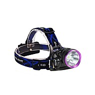 cheap Flashlights & Camping Lanterns-3Mode Headlamps Bike Lights Headlight LED 2000 lm 3 Mode with Batteries and Chargers Impact Resistant Rechargeable Waterproof