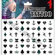 cheap Temporary Tattoos-1 Glitter Non Toxic Pattern Lower Back Waterproof Christmas Jewelry Series Animal Series Flower Series Totem Series Others Tattoo Stickers