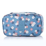 旅行用洗面道具バッグ 旅行かばんオーガナイザー 携帯用 小物収納用バッグ のために クロス ブラジャー ナイロン / フラワー