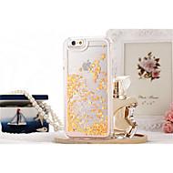 billiga Mobil cases & Skärmskydd-fodral Till Apple iPhone X / iPhone 8 / iPhone 8 Plus Flytande vätska / Genomskinlig Skal Glittrig Hårt PC för iPhone X / iPhone 8 Plus / iPhone 8
