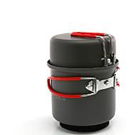 cheap Camp Kitchen-ALOCS Camping Cookware Mess Kit Camping Pot Sets Hard Alumina for Camping & Hiking
