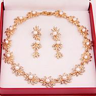 ieftine Șic Floral-Pentru femei Imitație de Perle Nuntă Petrecere Ocazie specială Zi de Naștere Logodnă Zilnic Aliaj Σκουλαρίκια Coliere