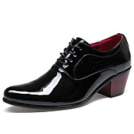 Men's Shoes Fashion Casual Business Leather Coat of Paint Shoes Black