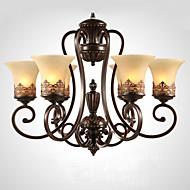 billige Takbelysning og vifter-Ecolight 6-Light Candle-stil Lysekroner Omgivelseslys - Krystall, 110-120V / 220-240V Pære ikke Inkludert / 20-30㎡ / E26 / E27