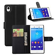 billiga Mobil cases & Skärmskydd-fodral Till Sony Z5 / Sony Z4 / Sony Xperia Z3 Plånbok / Korthållare / Stötsäker Fodral Enfärgad Hårt PU läder för Sony Xperia Z2 / Sony Xperia Z3 / Sony Xperia Z3 Compact / Sony Xperia XA