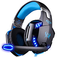 cheap Headsets & Headphones-KOTION EACH G2000 Over Ear / Headband Wired Headphones Plastic Gaming Earphone Luminous / Noise-isolating / with Microphone Headset