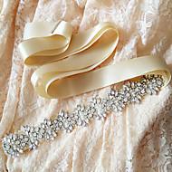 ieftine Panglici-Satin Nuntă Party / Seara Zilnice Cercevea With Piatră Semiprețioasă Cristal Mărgele Perle Paiete Pentru femei Panglici