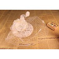 billiga Brudhuvudbonader-Lin Spets Nät fascinators 1 Bröllop Speciellt Tillfälle Hårbonad