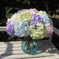 billige Kunstig Blomst-Kunstige blomster 1 Afdeling minimalistisk stil Hortensiaer kurv med blomster