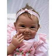 Недорогие Игрушки-NPKCOLLECTION NPK DOLL Куклы реборн Дети 22 дюймовый Силикон Винил - Новорожденный как живой Милый стиль Ручная работа Безопасно для детей Non Toxic Детские Девочки Игрушки Подарок / CE
