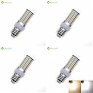 billige Kornpærer med LED-SENCART 4stk 8 W 3000-3500/6000-6500 lm E14 / G9 / GU10 LED-kornpærer 180 LED perler SMD 2835 Vanntett / Dekorativ Varm hvit / Naturlig hvit 220-240 V / 4 stk. / RoHs