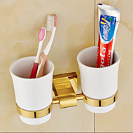 cheap Bathroom Hardware-Toothbrush Holder Neoclassical Brass 1 pc - Hotel bath