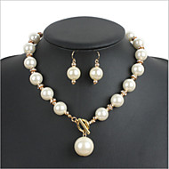 Women's Imitation Pearl / Alloy / Rhinestone Jewelry Set Imitation Pearl / Rhinestone