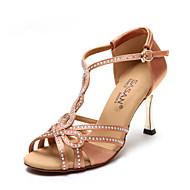 baratos Sapatilhas de Dança-Sapatos de Dança(Camel Preto) -Feminino-Não Personalizável-Latina