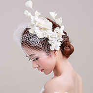 billiga Brudhuvudbonader-Lin Oäkta pärla Spets Nät fascinators Blommor 1 Bröllop Speciellt Tillfälle Hårbonad