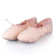 Kids' Ballet Canvas Flat Practice Performance Flat Heel Pink Beige Non Customizable
