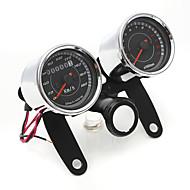 iztoss universal ledede motorcykel omdrejningstæller + kilometertæller speedometer gauge