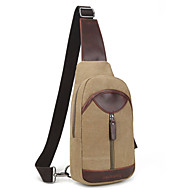 Men Bags Canvas Sling Shoulder Bag for Casual All Seasons Black Brown Khaki