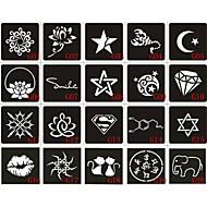Χαμηλού Κόστους τατουάζ αερογράφο-20 - 6X6CM - Μαύρο N/A - Στένσιλ Τατουάζ με Αερογράφο - Τατουάζ με Αερογράφο - Non Toxic / Μοτίβο - από Χαρτί γιαΜωρά / Παιδικά /