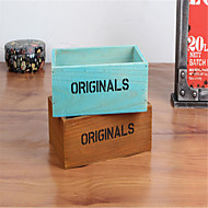 zakka mercearia de madeira jóias cosméticos detritos área de trabalho caixa de armazenamento suculentas vaso