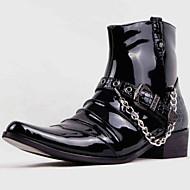 メンズ-アウトドア オフィス カジュアル パーティー-化繊コンフォートシューズ-ブーツ-ブラック