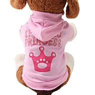 Kat Hund Hættetrøjer Hundetøj Tiaraer & kroner Lys pink Bomuld Kostume For kæledyr Dame Sødt Mode