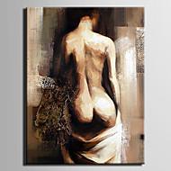 oljemaleri kvinne abstrakt håndmalt lerret med strukket innrammet