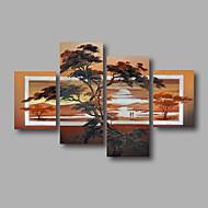 billiga Landskapsmålningar-Hang målad oljemålning HANDMÅLAD - Blommig / Botanisk Moderna Duk