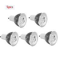 5 stk 3w e14 / gu10 / gu5.3 / e27 led spotlight 3 smd 300lm varm hvit kald hvit dekorativ ac85-265v