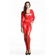 بدل زانتاي لباس قططي بدلة الجلد النينجا للبالغين سباندكس اللاتكس أزياء Cosplay الجنس رجالي نسائي أحمر لون سادة Halloween / عالية المرونة