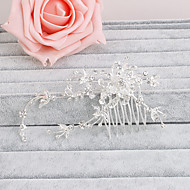 cheap Wedding Headpieces-Rhinestone Hair Combs 1 Wedding Special Occasion Casual Office & Career Outdoor Headpiece