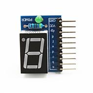 """1 dígito ânodo comum 0,56 """"módulo de display digital para arduino + pi framboesa - azul"""