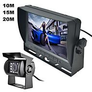 """renepai® 7 """"barevný TFT LCD displej auto zadní pohled záložní parkovací zrcátko Monitor + noční vidění kamera sady zabezpečení"""