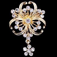 kvinders krystal perle kløver broche til bryllupsfest dekoration tørklæde, fine smykker
