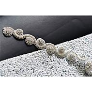 Χαμηλού Κόστους Κορδέλες-Σατέν Γάμου / Πάρτι / Βράδυ / Καθημερινή Ένδυση Ζώνη Με Τεχνητό διαμάντι / Κρυσταλλάκια / Χάντρες Γυναικεία Ζώνες για Φορέματα