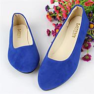 baratos Sapatos Femininos-Mulheres Sapatos Flanelado Verão Sem Salto Azul Real / Vinho / Verde Escuro