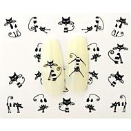 baratos -10 Adesivos para Manicure Artística Transferência de água adesivo Desenho Adorável maquiagem Cosméticos Designs para Manicure