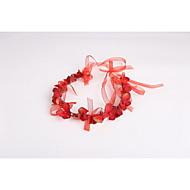 cheap Headpieces-Tulle Fabric Plastic Wreaths Headpiece