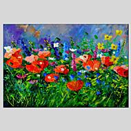 El-Boyalı Çiçek/BotanikModern / Klasik / Geleneksel / Avrupa Tipi Tek Panelli Kanvas Hang-Boyalı Yağlıboya Resim For Ev dekorasyonu
