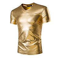 cheap -Men's Sports Basic / Exaggerated Cotton Slim T-shirt - Solid Colored / Short Sleeve
