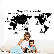 billiga Väggklistermärken-Former Jul Väggklistermärken Map Wall Stickers Dekrativa Väggstickers, Vinyl Hem-dekoration vägg~~POS=TRUNC Vägg